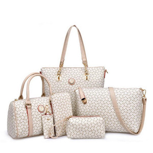 Composite Sacchetto 6pcs / set donne borse in pelle borse delle signore donne dell'unità di elaborazione del sacchetto di modo del Tote della borsa della borsa di Crossbody Bags For