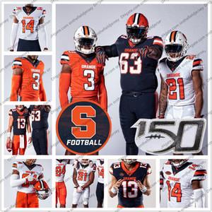 Personalizado Syracuse Orange 2019 New Jersey Football aposentado 5 Donovan McNabb 39 Larry Csonka 44 Jim Brown 72 Tim Green 88 John Mackey