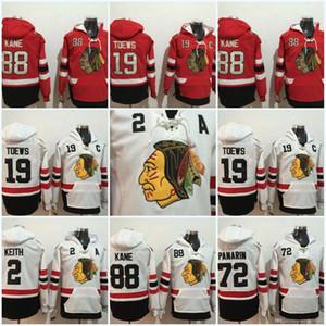 Maillots Blackhawks de Chicago pour hommes 19 Jonathan Toews 88 Patrick Kane 2 Duncan Keith 72 Chandails de hockey Artemi Panarin à capuche
