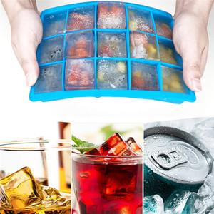 15 Cube silicone bandeja de gelo Quadrado Silicone Mold DIY gelo Fruit Cube Mold Verão Cube Ice Maker do Vinho Whiskey