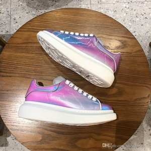 Louis Vuitton LV shoes colores del caramelo dentro del hip-hop de Justin Bieber altos mujeres zapatos casuales amarillo azul blanco xsd19061001