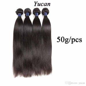 Malaysian Glattes Haar Weave Bundles Menschenhaar-Verlängerungen 5/6 Bundles Lot Natural Black 10-26Inch Doppel Maschine Tressen Glatt 50g / pcs