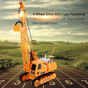 OCDAY bambini RC giocattoli dell'automobile 12 Channel RC Escavatore telecomando wireless Elettrodomestici Mezzi di ricarica con batterie RTG