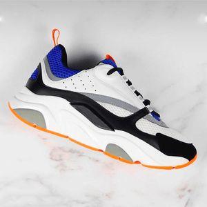 2020 Chaussures Hommes B22 Sneaker vintage plate-forme Sneakers femmes mode Calfskin Baskets chaussures en cuir Patchwork plat Haut Bas FOURGONS