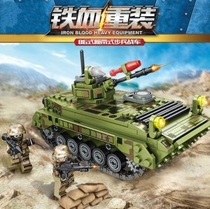 105530 376PCS de la serie militar Building Blocks infantería orugas juguetes educativos de regalo la interacción entre padres e hijos vehículo de combate de los niños