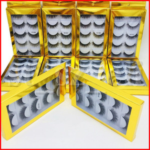 6D Ciglia 5 paia spessi naturali lungo falsi frustate 10 stili per la bellezza Makeup falsi stili Eye Lashes Estensione popolari