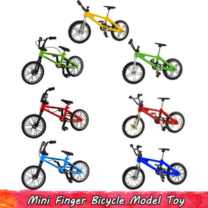 Giocattolo della bicicletta 1Pcs Retro lega Mini Finger per bambini di simulazione di plastica Mountain Bike modello per i bambini regali creativi Home Decoration