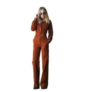 PADEGAO Vêtements de travail Femmes Combinaisons barboteuses longues Pantalon droit Femme 2020 New Spring Lady Vêtements de haute qualité Combinaison