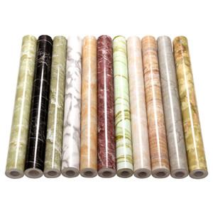 Auto-adesivo Wallpaper Marble Vinyl Film autoadesivo impermeável Wallpaper Cozinha Casa de Banho Armário Bancadas PVC adesivos de parede