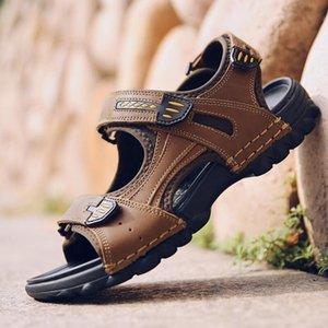 Homens sandálias de verão casuais baixos sapatos de salto sapatos masculinos chinelos de praia slides sandálias zapatos de hombre mens comfortabe sandálias