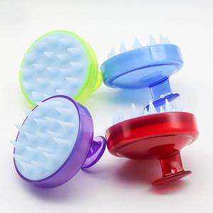Shampoo Escova De Massagem Do Couro Cabeludo Confortável Silicone Lavar O Cabelo Pente Corpo Banho de Massagem Emagrecimento Escovas Brushes Personel Saúde 4 Cor WX9-1297