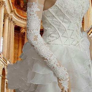 2020 Venda Quente Barato Mulheres Red Lace Wedding Luvas Fingerless Ópera Comprimento Longo De Noiva Acessórios Do Casamento Do Partido