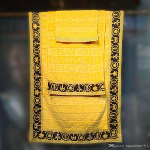 Lusso teli da bagno di marca del progettista Signage piazza telo mare asciugamano e telo bagno 3 pezzi 1 set 100% Egitto addensare cotone nuovo materiale