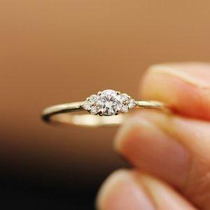 Новая серия обручальных колец для минималистской невесты Циркон кольцо ювелирные изделия