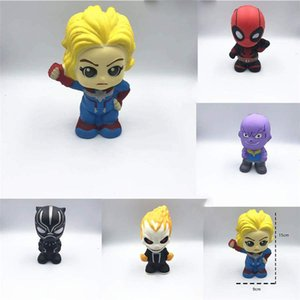 Nuevos Vengadores Los juguetes blandos del lento aumento de Marvel Vídeo a Súper héroe Thanos Squishie un estrés Juguetes lol