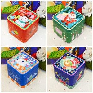 Décoration de Noël Pot De Bonbons Carré En Métal Tôle Plaque Cadeaux Boîte Pour Enfant Filles Garçons Impression Offset Cas De Stockage Creative 2 3im E1