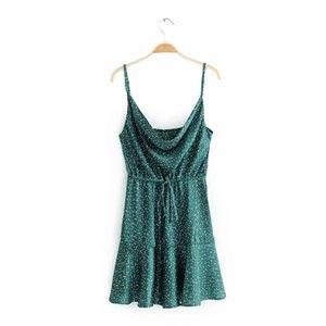 2019051119 Summer Sexy Strap Backless Stain Short Dress Women Casual High Street Polka Dot Dress Beach Party Holiday Vestidos