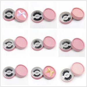 3D 가짜 밍크 속눈썹 거짓 밍크 속눈썹 3D 실크 단백질 속눈썹 100 % 수제 천연 가짜 눈 속눈썹 선물 상자 24 스타일 DHL