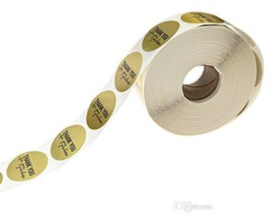 500pcs roll 1 inch gold round thank you adhesive label sticker envelope seal sticker baked papckage DIY sticker