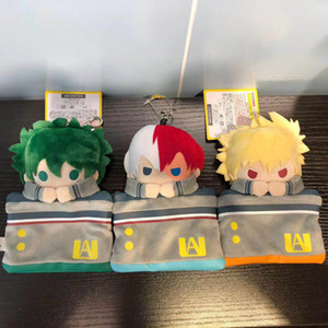 15см My Hero Academia монета кошелек мешок карточки кулон плюшевые игрушки мягкие куклы очарование мультфильма подарок Midoriya Izuku bakugou Katsuki Todoroki Shouto