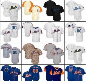 2020 mulheres crianças 2025 dos homens feitos sob newyorkmets jérseis de basebol 100% costurado Marinho Branco Cinzento Azul de beisebol vermelho veste