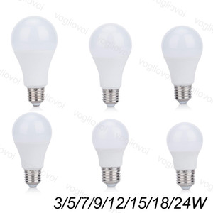 LED Bulbs 110V 220V 3W 5W 7W 9W Aluminium Plastic SMD2835 PC Cover cool warm white For Table Light Pendant Floor Lights EUB