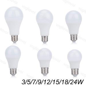 LED Bulbs 110V 220V 3W 5W 7W 9W Aluminium Plastic SMD2835 PC Cover cool warm white For Table Light Pendant Floor Lights EUB