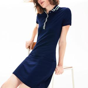 accappatoio polo lacoste stilista camicia di cotone Abiti casual Polo Abbigliamento A-Line Skirt dolce fresco abbigliamento di marca france Dressses