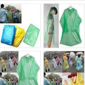 10X Disposable Adult Emergency Waterproof Raincoat Poncho Hiking Camping Hood ly 10X Disposable Adult Emergency Waterproof Raincoat hj2009 i
