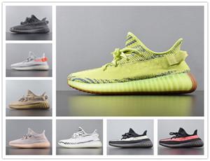2020 diseños originales V2 estática arcilla para hombre Zapatos de mujer baratos 3M reflectantes Zapatos Verdadera Forma hiperespacio Kanye West corredor de la onda Trainer las zapatillas de deporte