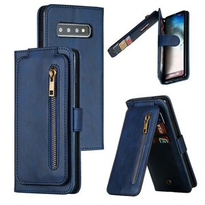 Porte-monnaie Stand Flip cas de téléphone portable en cuir PhotoFrame Téléphone pour iPhone 11 pro max note Samsung S10 10 A20 A70 huawei mate 30