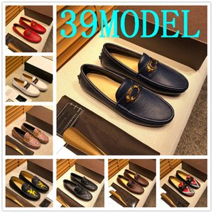 39MODEL Men loafers Shoes Man 2020 New Fashion Comfy Slip-on drive Moccasins Footwear Male Brand Leather Boat Shoes Men Casual Shoes