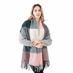 Yeni Moda Kadınlar Için 60 cm * 200 cm Kış Eşarp Yüksek Kalite Sıcak Büyük Uzun Eşarp Kadın Lüks Ekose Kaşmir Kalın Atkılar
