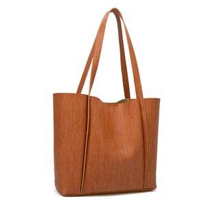 Kadınlar omuz çantası büyük kapasiteli Bark desen bayanlar el çantaları PU Deri Bayan Büyük Tote Çanta Çanta bolsas dişil pembe