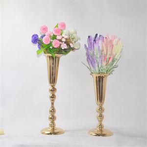 Vasen Blumen Trompete Form Vase Hochzeit Tischdekoration Event Ständer Säule Straße Blei Blumentopf Für Heimtextilien