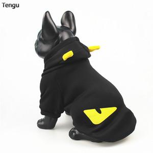 ropa para mascotas tienen un gato de la suerte y un poco de impresión diablo con capucha suéter de terciopelo de algodón captura perros pequeños y medianos materiales