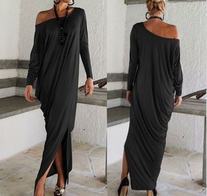 Women's Casual Long Dress Maxi Sleeve Sexy Full Sleeve Loose Wrap Oversize Irregular Elegant Party Dresses vestidos