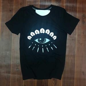 Big Eye Printed Cotton Herren Designer-T-Shirt Summer Fashion Kurzarm-T-Shirt Kreatives Druck frische Art Teenager-T-Shirt