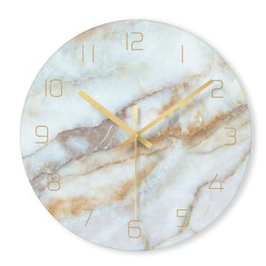 1 marmo Pz Nordic Orologio da parete moderno minimalista Camera degli orologi di arte di personalità creativa Soggiorno Home page Orologio della decorazione della parete