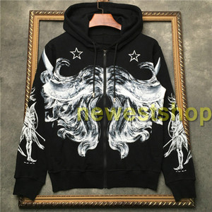 2020 New Top brand mens Graffiti abstract line star print hoodies Long sleeve pullover coat sports sweatshirt men Designer Casual Jumpers