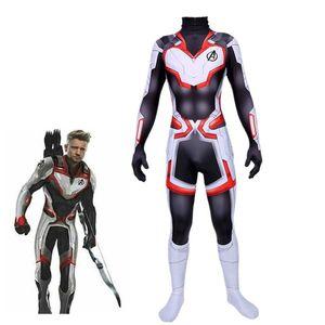 Hot Avengers Endspiel Quantum Realm Cosplay Superheld Captain America Captain Marvel Zentai erwachsenes Kind Overalls