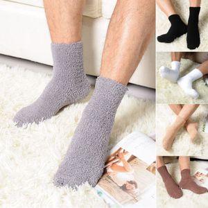 2019 Quente Homens Thick Inverno Coral Fleece chinelo Piso Socks Non-Slip toalha Socks