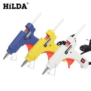 HILDA pistola de cola quente industriais Mini armas Thermo Electric Heat temperatura da ferramenta com 10pcs bastões de cola