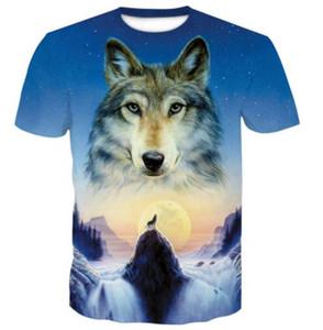 Дизайн мужчины 3D Wolf печати короткого рукава футболки Apparel наборов формы Спорт Личность Дизайн спортивного спорт на открытом воздухе много различных цветов