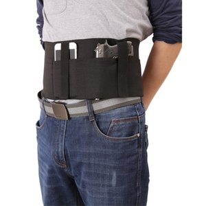 Tactical Belt Multi-functional 95cm Elastic Girdle General Waist Neoprene Fabric Gun Holster Mobile Phone Bag Holder