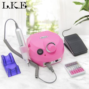 Cheap Manicure Drills LKE 35000RPM Electric Drill Manicure Machine Mill Cutter Sets For Nail Salon Tips Nail Drill Art Electric