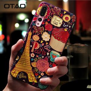 Huawei P20 P10 P9 Lite 프로 케이스의 명품 만화 무늬 휴대폰 케이스 명예 8 9 10 Lite Mate 10을위한 초박형 Tpu 커버