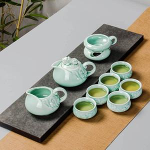 Tee-Set Kung Fu Topf Infuser Gaiwan Teekanne 2019 China Porzellantassen Keramik Serving Cup Teacup Chinese Trinkgefäße High Quality