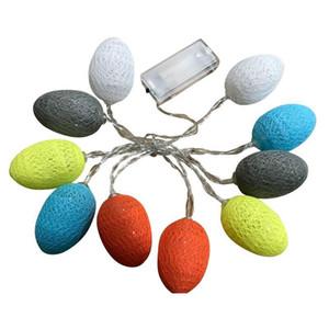 Coloré LED Easter Egg Guirlandes batterie LED Pâques coton Powered Eggs Lumière Chaîne de soirée de mariage Décoration de Noël 5 Longueur DBC DH1301
