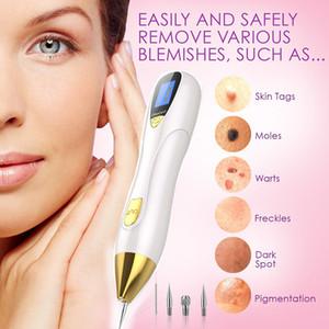 LCD Laser Plasma Stift Mole Tattoo Remover Gesichtsschönheit Sommersprossen Tag Warze Dot Dark Spot Removal Pen für Gesicht Hautpflege Maschine